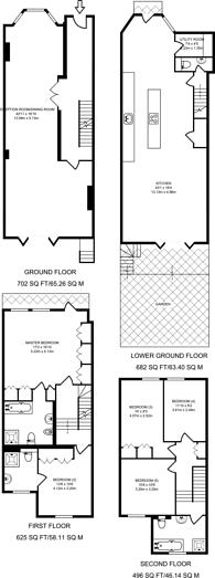 Large floorplan for Chesilton Road, Fulham, SW6