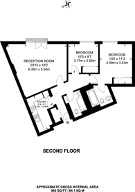 Large floorplan for Herbal Hill Gardens, Farringdon, EC1R