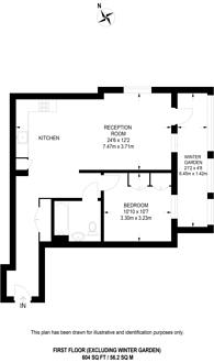 Large floorplan for Battersea Exchange, Nine Elms, SW8