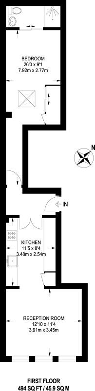Large floorplan for The Strand, Covent Garden, WC2R