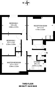 Large floorplan for Welland Street, Greenwich, SE10