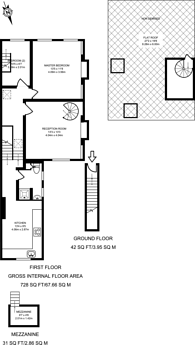 Large floorplan for Ham Park Road, Stratford, E7