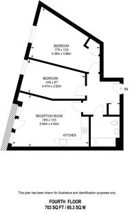 Large floorplan for Tarves Way, Greenwich, SE10