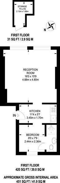 Large floorplan for Upper Street, Highbury and Islington, N1