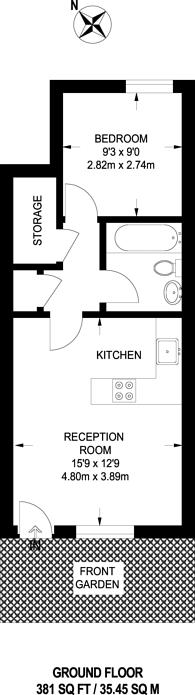 Large floorplan for Bunning Way, Caledonian Road, N7