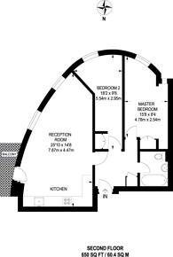 Large floorplan for Scotland Green, Tottenham, N17