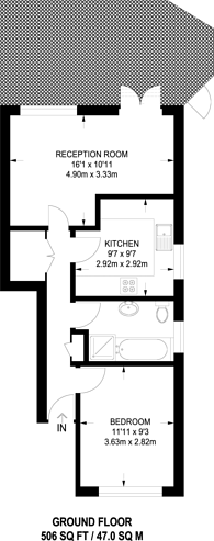 Large floorplan for Woodlands Avenue, Finchley, N3
