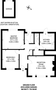 Large floorplan for Winchester Road, Bromley, BR2