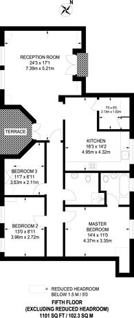 Large floorplan for West Heath Road, Hampstead, NW3