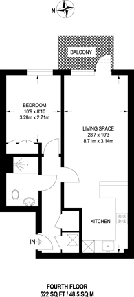 Large floorplan for Beaufort Park, Colindale, NW9
