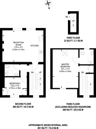 Large floorplan for Thornhill Crescent, Barnsbury, N1
