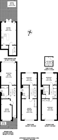Large floorplan for Cromer Villas Road, West Hill, SW18