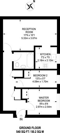 Large floorplan for Peartree Avenue, Earlsfield, SW17