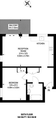 Large floorplan for Reminder Lane, North Greenwich, SE10