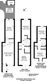 Large floorplan for Lawrence Place, Islington, N1