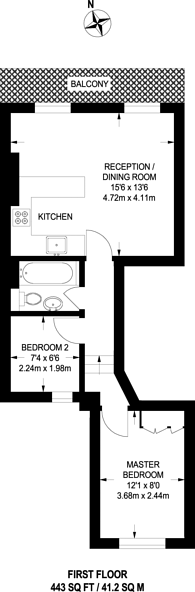Large floorplan for Tachbrook Street, Pimlico, SW1V