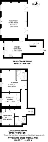 Large floorplan for Kennington Lane, Kennington, SE11