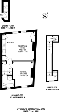 Large floorplan for London Road, Tooting, SW17