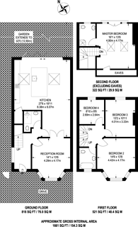 Large floorplan for Hill Close, Dollis Hill, NW2