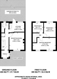 Large floorplan for Wendling Road, Sutton, SM1