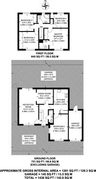 Large floorplan for Drumaline Ridge, Worcester Park, KT4
