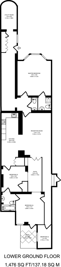 Large floorplan for Cromwell Road, South Kensington, SW7