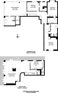Large floorplan for Belgrave Court, Canary Wharf, E14