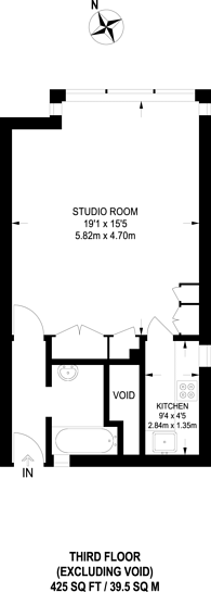 Large floorplan for Fellows Road, Primrose Hill, NW3