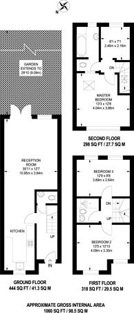 Large floorplan for Surrey Road, Nunhead, SE15