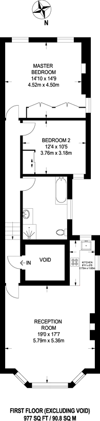 Large floorplan for West End Lane, West Hampstead, NW6