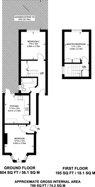 Large floorplan for Balmoral Road, Willesden, NW2