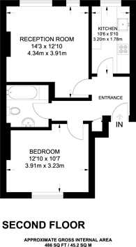 Large floorplan for Netherwood Road, Brook Green, W14
