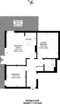 Large floorplan for Hop Street, Greenwich, SE10
