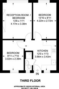 Large floorplan for Maygood Street, Islington, N1