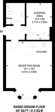Large floorplan for Earls Court Road, Earls Court, W8