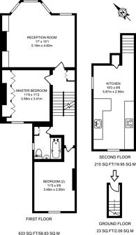 Large floorplan for Galveston Road, East Putney, SW15
