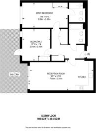 Large floorplan for Ingrebourne Apartments, Sands End, SW6