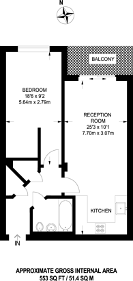 Large floorplan for Chartfield Avenue,, Putney, SW15