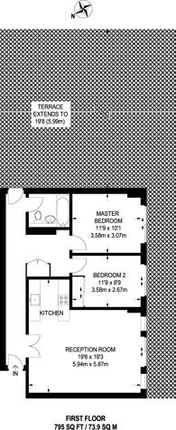 Large floorplan for Gainsborough Studios, Islington, N1