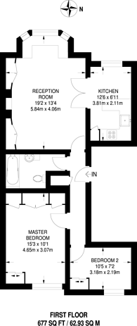 Large floorplan for Gloucester Terrace, Notting Hill, W2