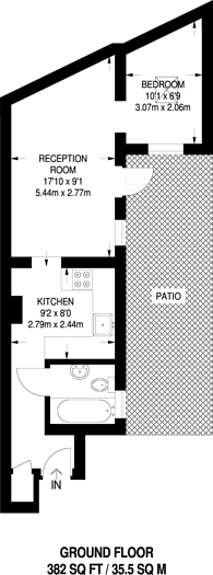 Large floorplan for New Kings Road, Fulham, SW6