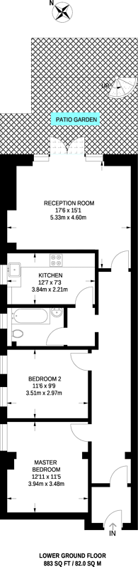 Large floorplan for Upper Street, Islington, N1