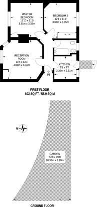 Large floorplan for Alberta Avenue, Cheam, SM1
