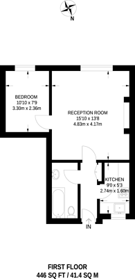 Large floorplan for Mortimer Crescent, St John's Wood, NW6