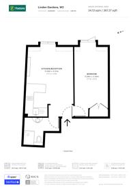 Large floorplan for Linden Gardens, Notting Hill Gate, W2