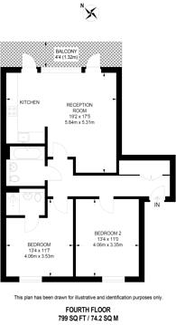 Large floorplan for Acton Gardens, Acton, W3