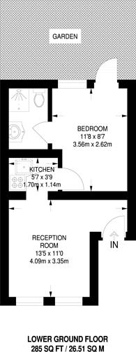 Large floorplan for Kensington Garden Square, Bayswater, W2