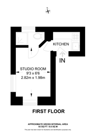 Large floorplan for Prince of Wales Terrace, South Kensington, W8