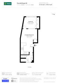 Large floorplan for Thornhill Road, Islington, N1