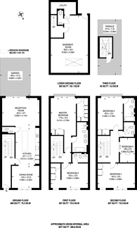 Large floorplan for Bolingbroke Grove, Between the Commons, SW11